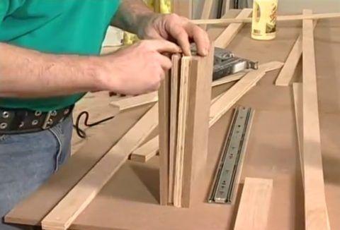 Структура стенки шкафа
