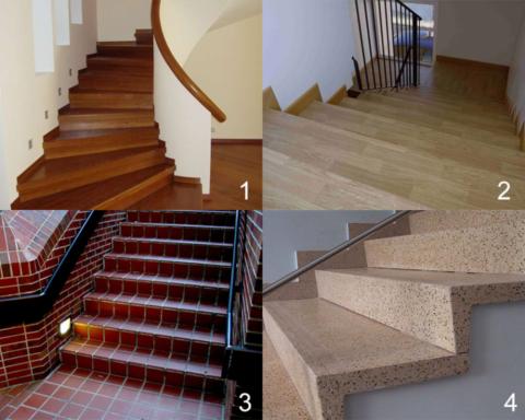 Варианты отделки бетонных ступеней
