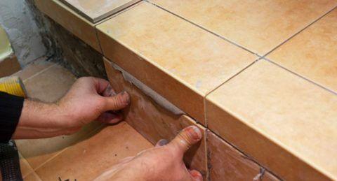 Как правильно обложить ступеньки плиткой: определяемся с порядком укладки