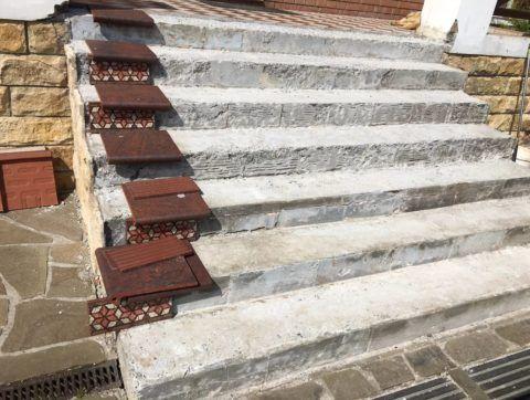 Лестницы под облицовку плиткой выглядят как-то так