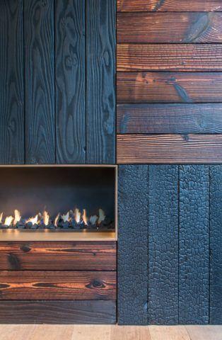 Цветовая гамма древесины, обработанной по технологии якисуги, довольно разнообразна и может дать широкий простор для ярких дизайнерских решений
