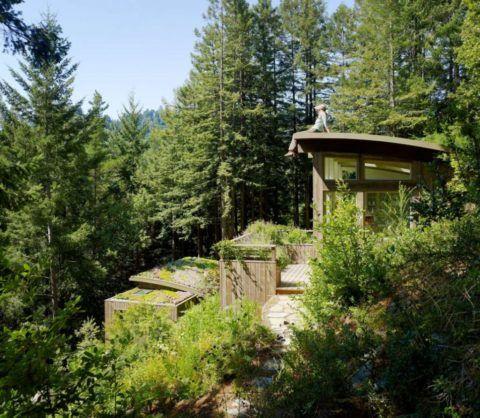 Беседки и лестницы из дерева – прекрасный тандем