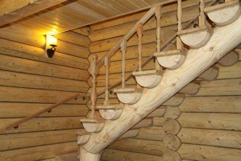 Форма лестницы должна соответствовать стилю помещения