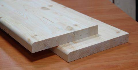 Готовые проступи для деревянной лестницы