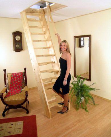 Как делать лестницу на мансарду компактной