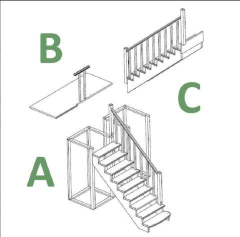 Лестница-конструктор К-040м