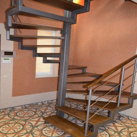 Металлическая лестница сварного типа