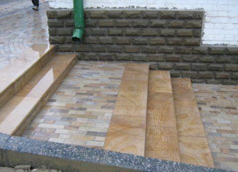 Плитка для наружных лестниц, нарезанная из сланца
