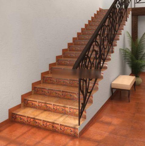 Плитка пале рояль для лестницы