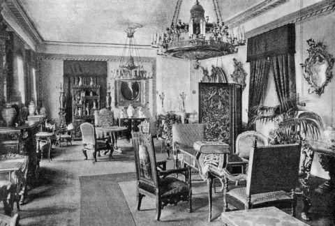 Пример интерьера петербургской квартиры конца 19 века