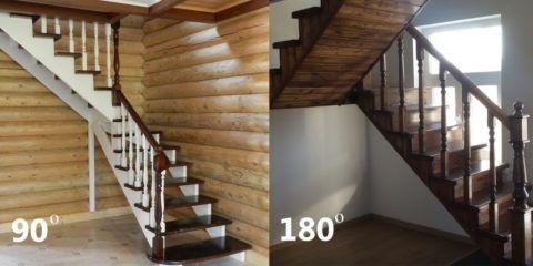 Разные виды маршевых лестниц