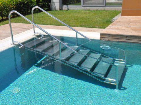 Римские лестницы из нержавеющей стали для бассейнов