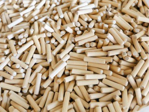 Деревянные шканты на 10 мм