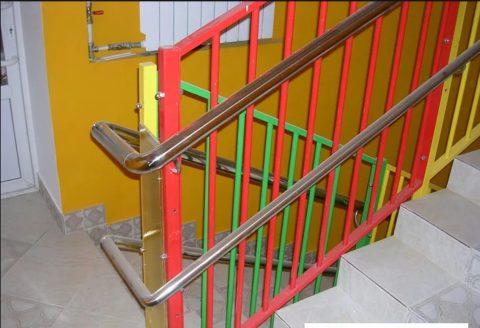 Ограждения лестниц в детских садах