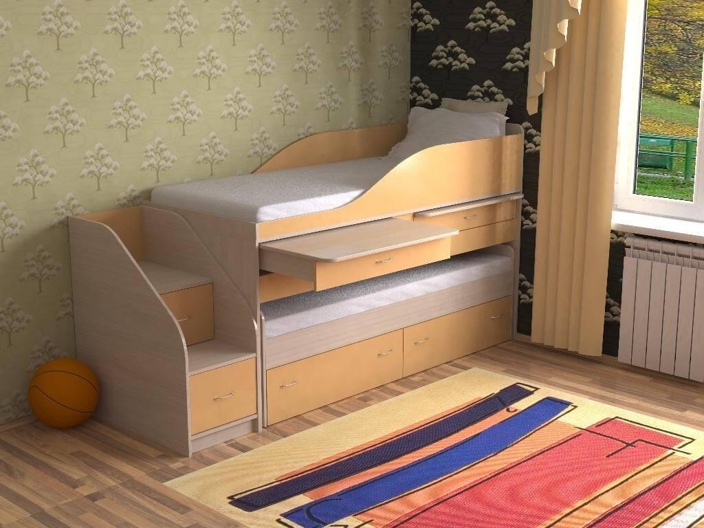 Лестница для двухъярусной кровати своими руками фото 29