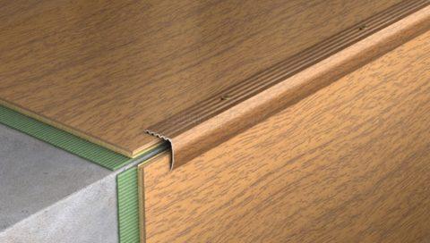 Уголок для кромки ступени без резинового вкладыша