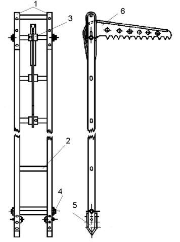 Лестница–штурмовка схема