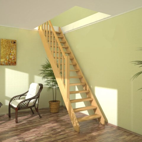 Небольшие одномаршевые лестницы для самостоятельного монтажа наилучший вариант