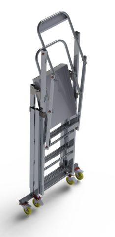 Телескопические лестницы передвижные на колесах