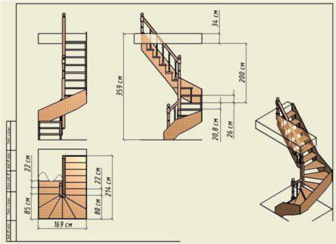 Как сделать лестницу на даче: рабочие чертежи