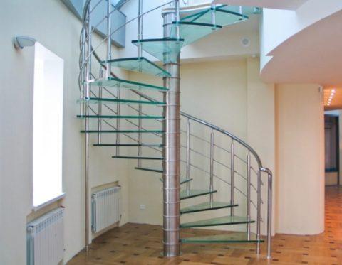 Комбинация нержавеющей стали и стекла