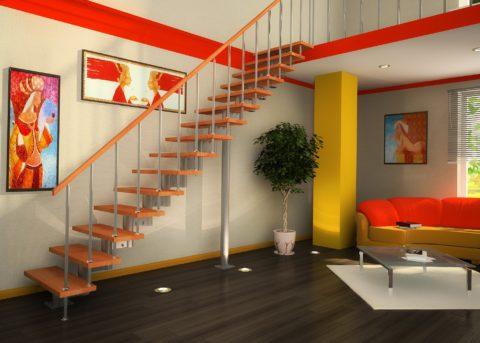 Лестничная конструкция должна быть прочно и надежно закреплена