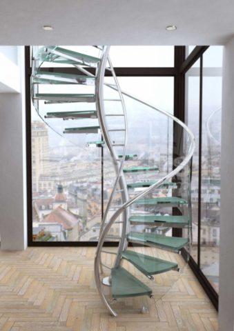 Лестницы на второй этаж из металла: сборная винтовая конструкция необычной формы