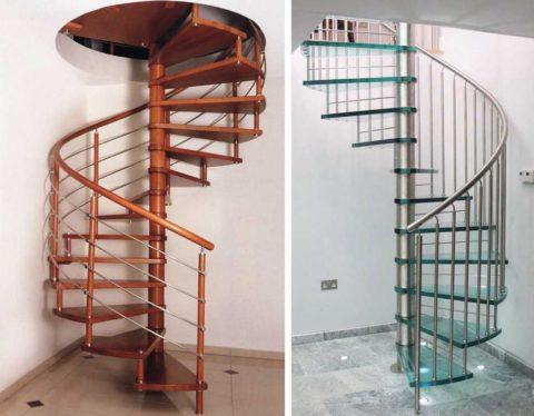 Модульные винтовые лестницы