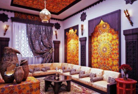 Обилие текстиля в отделке и декорировании