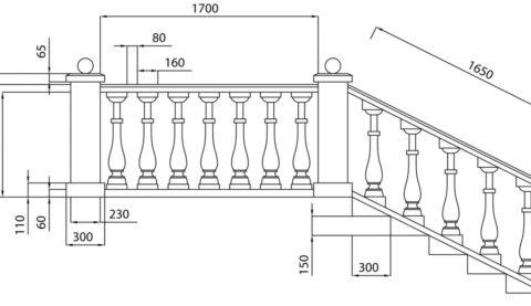 Перила для балкона и лестницы в классическом исполнении