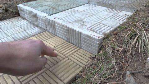 Ступеньки из тротуарной плитки