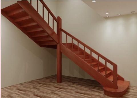 Высота столба лестницы зависит от её конструкции и вида ограждений