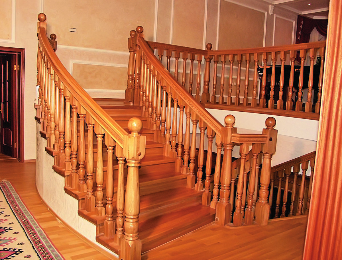 перила для лестницы из дерева фото ваше