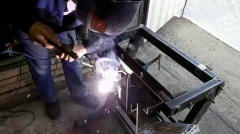 Работа со сварочным аппаратом