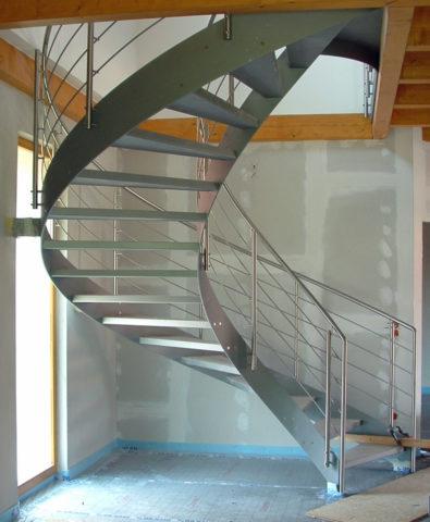 Тетивы на винтовой лестнице