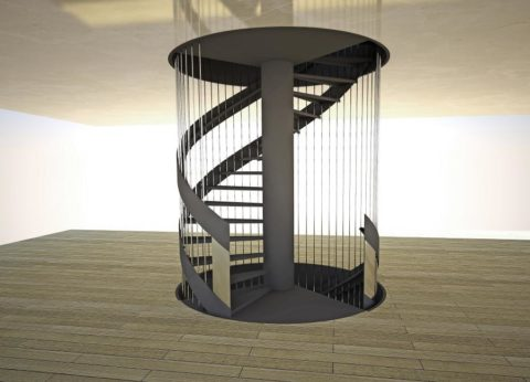 Винтовая лестница на центральной опоре
