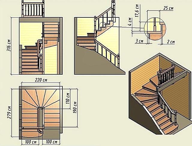 Опалубка лестница с забежными ступенями своими руками фото 347