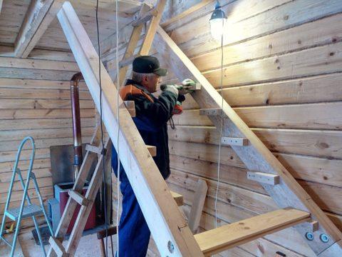 Как построить самому лестницу – основание под ступени