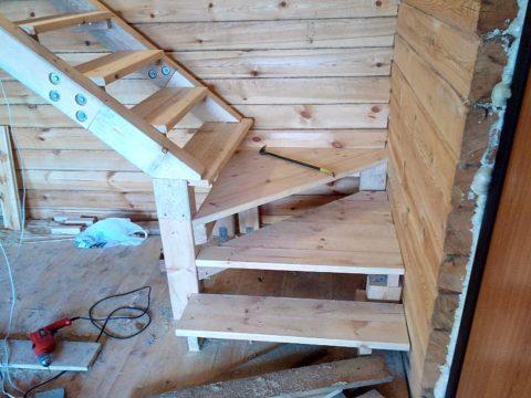 Как своими руками собрать лестницу