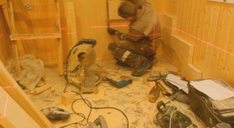 Лестницы деревянные забежные – монтаж