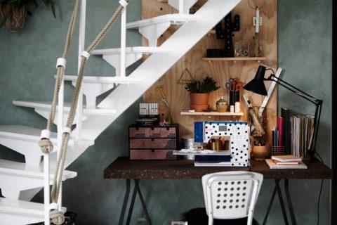 Пример использования пространства под лестницей