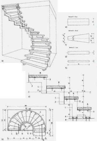 Эскиз и точный чертеж в одном - расчет косоура деревянной лестницы