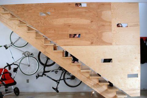 Фанерная лестница
