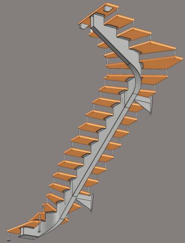 Как рассчитать косоур для деревянной лестницы – работа в компьютерной программе