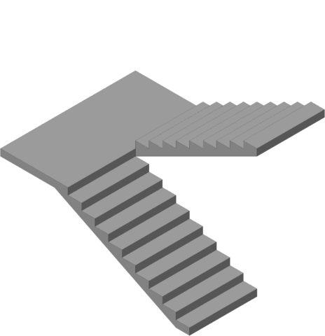 Лестницы бетонные в частном доме – проект