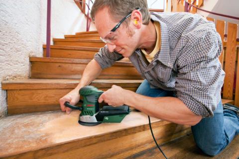 Подготовка лестницы к обработке