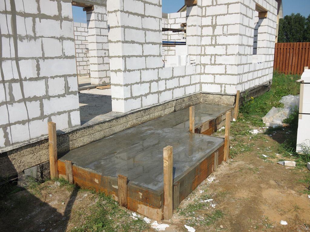 фундамент крыльцо для частного дома
