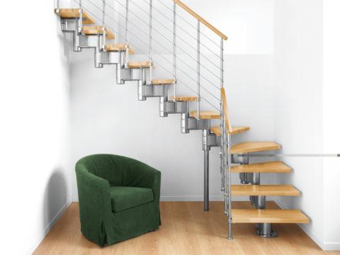 Лестницы на косоурах модульные