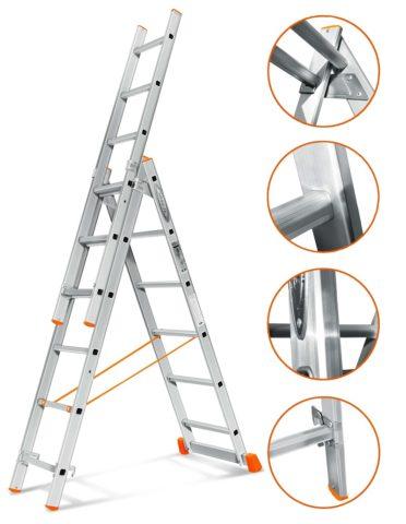 Основные узлы складной лестницы