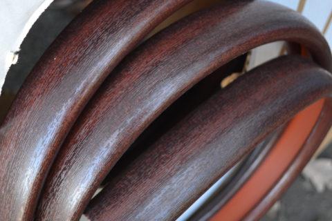 Фото полимерной накладки под красное дерево